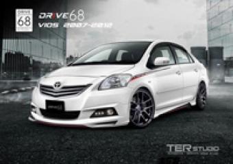 ชุดแต่ง Vios 2007 - 2012 (DRIVE 68) แท้ 100% สเกิร์ตอุปกรณ์ของแต่งรถวีออสตัวเก่า