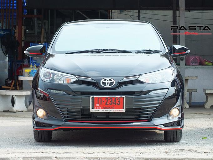 ชุดแต่ง สเกิร์ต สปอยเลอร์ อุปกรณ์แต่งรถ ของแต่งรถ แต่งรถ new yaris ativ 2017 2018 2019 2020 Drive 68 ลำลูกกา รังสิต ปทุมธานี กรุงเทพ สีดำ วิทยา นะ รูป 1
