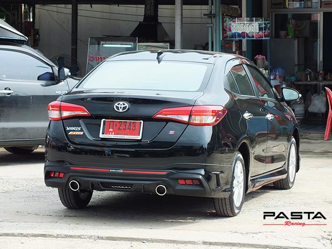 ชุดแต่ง สเกิร์ต สปอยเลอร์ อุปกรณ์แต่งรถ ของแต่งรถ แต่งรถ new yaris ativ 2017 2018 2019 2020 Drive 68 ลำลูกกา รังสิต ปทุมธานี กรุงเทพ สีดำ วิทยา นะ รูป 3
