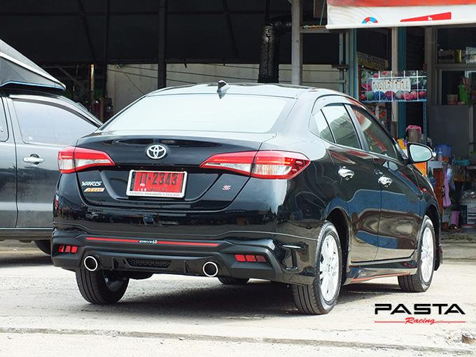 ชุดแต่ง สเกิร์ต สปอยเลอร์ อุปกรณ์แต่งรถ ของแต่งรถ แต่งรถ new yaris ativ 2017 2018 2019 2020 Drive 68 ลำลูกกา รังสิต ปทุมธานี กรุงเทพ สีดำ วิทยา นะ รูป 4