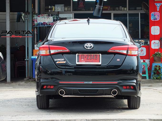 ชุดแต่ง สเกิร์ต สปอยเลอร์ อุปกรณ์แต่งรถ ของแต่งรถ แต่งรถ new yaris ativ 2017 2018 2019 2020 Drive 68 ลำลูกกา รังสิต ปทุมธานี กรุงเทพ สีดำ วิทยา นะ รูป 6