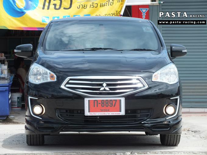 ชุดแต่ง สเกิร์ต แต่งรถ attrage 2013 2014 2015 2016 dreamer รังสิต ลำลูกกา ปทุมธานี กรุงเทพ สีดำ คุณจุฑามาศ รูป 1