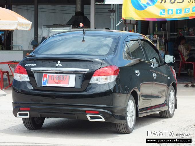 ชุดแต่ง สเกิร์ต แต่งรถ attrage 2013 2014 2015 2016 dreamer รังสิต ลำลูกกา ปทุมธานี กรุงเทพ สีดำ คุณจุฑามาศ รูป 3