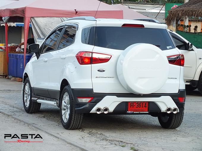 ชุดแต่ง สเกิร์ต อุปกรณ์ของแต่งรถ แต่งสวย ford ecosport 2014 2015 2016 2017 showvy รังสิต ลำลูกกา ปทุมธานี กรุงเทพ พี่นก สีขาว รูป 6