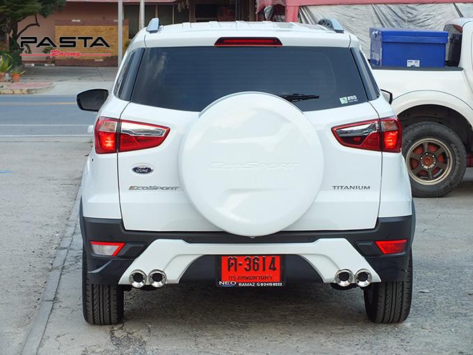 ชุดแต่ง สเกิร์ต อุปกรณ์ของแต่งรถ แต่งสวย ford ecosport 2014 2015 2016 2017 showvy รังสิต ลำลูกกา ปทุมธานี กรุงเทพ พี่นก สีขาว รูป 7