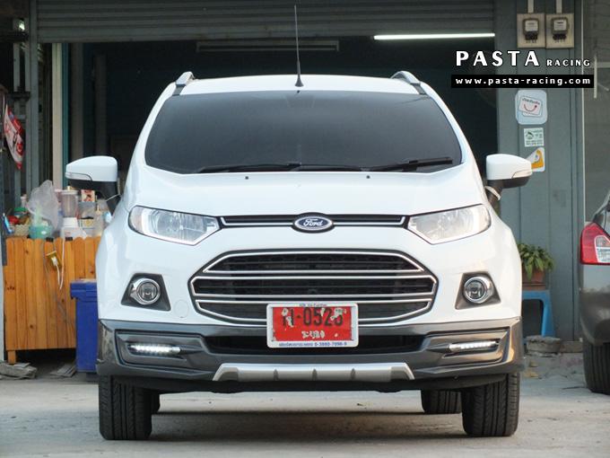 ชุดแต่ง สเกิร์ต แต่งรถ ford ecosport 2013 2014 2015 2016 showvy รังสิต ลำลูกกา ปทุมธานี กรุงเทพ อ้วน สีขาว รูป 1