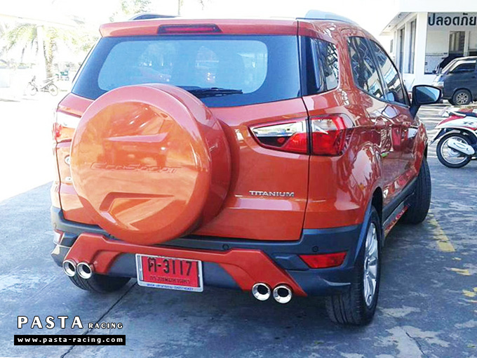 ชุดแต่ง สเกิร์ต แต่งรถ ford ecosport 2013 2014 2015 2016 showvy รังสิต ลำลูกกา ปทุมธานี กรุงเทพ โปรชัวร์ฯ สีส้มตัดสีตามตัวรถ รูป 3