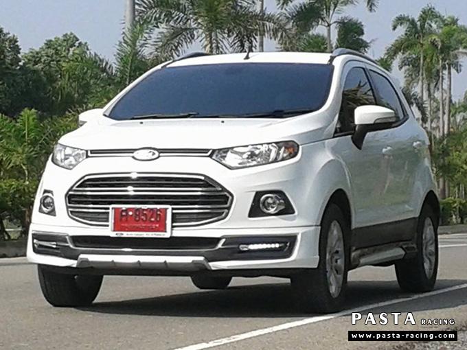 ชุดแต่ง สเกิร์ต แต่งรถ ford ecosport 2013 2014 2015 2016 showvy รังสิต ลำลูกกา ปทุมธานี กรุงเทพ โปรชัวร์ฯ สีขาวตัดสีตามตัวรถ รูป 1