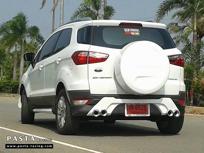 ชุดแต่ง สเกิร์ต แต่งรถ ford ecosport 2013 2014 2015 2016 showvy รังสิต ลำลูกกา ปทุมธานี กรุงเทพ โปรชัวร์ฯ สีขาวตัดสีตามตัวรถ รูป 2