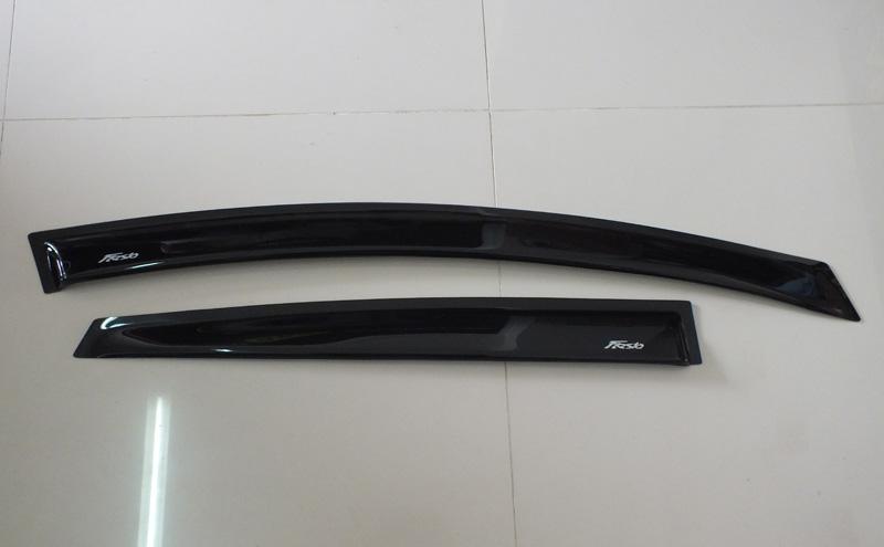กันสาด Ford Fiesta 4DR + 5DR (ประตู) สีดำ พร้อมโลโก้ Fiesta แบบพิเศษ 4 ชิ้น