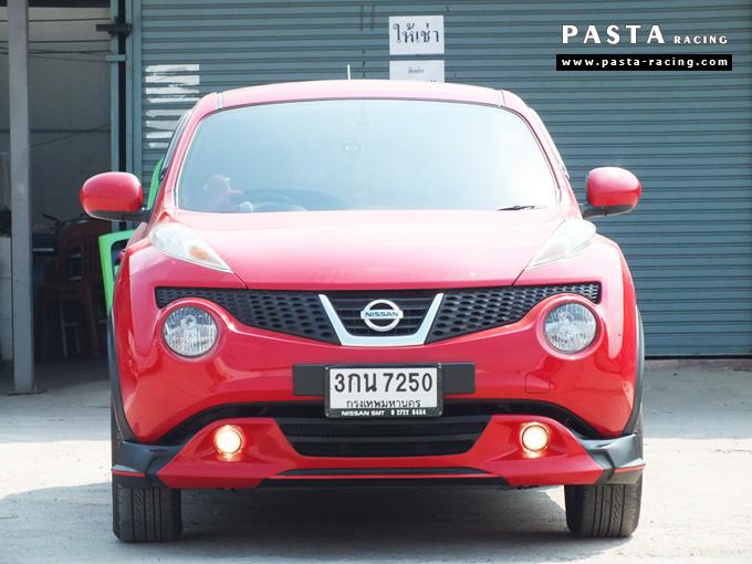 ชุดแต่ง สเกิร์ต แต่งรถ nissan juke s จู๊ค 2014 2015 2016 2017 แต่งสวย รังสิต ลำลูกกา ปทุมธานี กรุงเทพฯ สีแดง สุกฤตา รูป 1