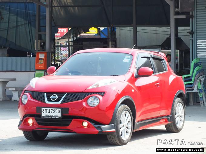 ชุดแต่ง สเกิร์ต แต่งรถ nissan juke s จู๊ค 2014 2015 2016 2017 แต่งสวย รังสิต ลำลูกกา ปทุมธานี กรุงเทพฯ สีแดง สุกฤตา รูป 3