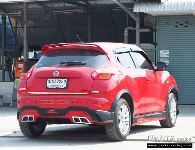 ชุดแต่ง สเกิร์ต แต่งรถ nissan juke s จู๊ค 2014 2015 2016 2017 แต่งสวย รังสิต ลำลูกกา ปทุมธานี กรุงเทพฯ สีแดง สุกฤตา รูป 4