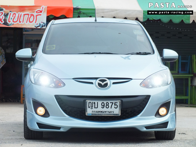ชุดแต่ง สเกิร์ต Mazda 2 elegance มาสด้า 2 4 ประตู File War Plus 2012 2013 2014 รังสิต ลำลูกกา ปทุมธานี กรุงเทพ สีฟ้า คุณเชิดพงษ์ รูป 1