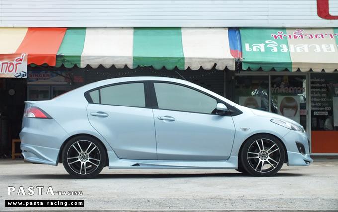 ชุดแต่ง สเกิร์ต Mazda 2 elegance มาสด้า 2 4 ประตู File War Plus 2012 2013 2014 รังสิต ลำลูกกา ปทุมธานี กรุงเทพ สีฟ้า คุณเชิดพงษ์ รูป 2