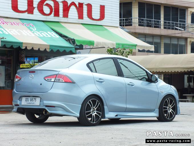 ชุดแต่ง สเกิร์ต Mazda 2 elegance มาสด้า 2 4 ประตู File War Plus 2012 2013 2014 รังสิต ลำลูกกา ปทุมธานี กรุงเทพ สีฟ้า คุณเชิดพงษ์ รูป 3