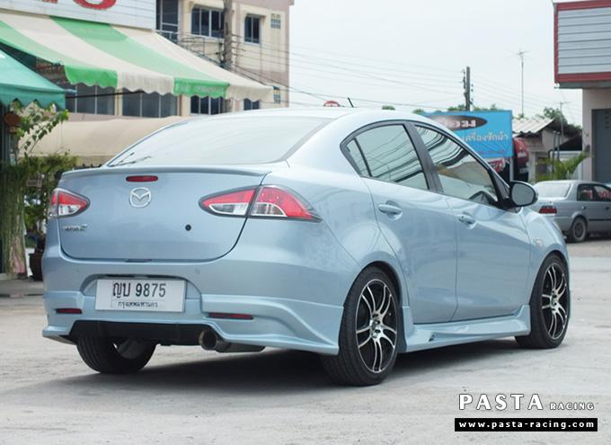 ชุดแต่ง สเกิร์ต Mazda 2 elegance มาสด้า 2 4 ประตู File War Plus 2012 2013 2014 รังสิต ลำลูกกา ปทุมธานี กรุงเทพ สีฟ้า คุณเชิดพงษ์ รูป 4