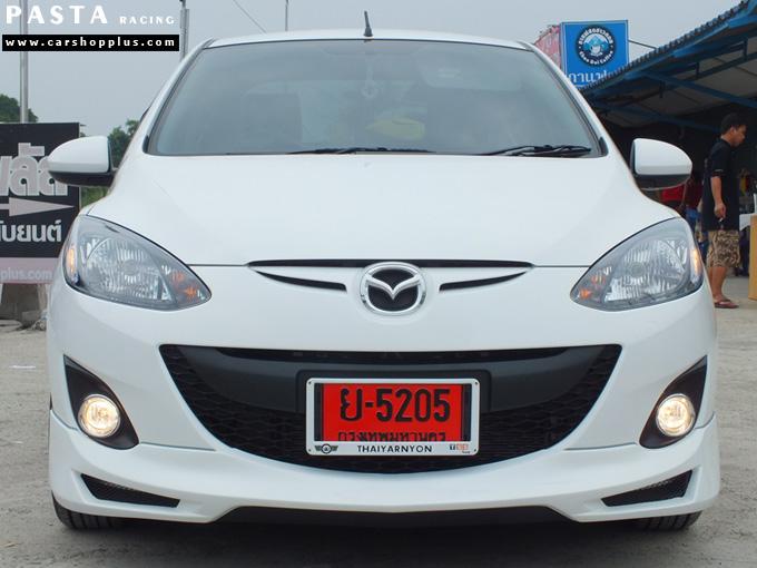 ชุดแต่ง สเกิร์ต Mazda 2 Seadan มาสด้า 2 4 ประตู File War Plus 2012 2013 2014 รังสิต ลำลูกกา ปทุมธานี สีขาว คุณภูวนัย รูป 1