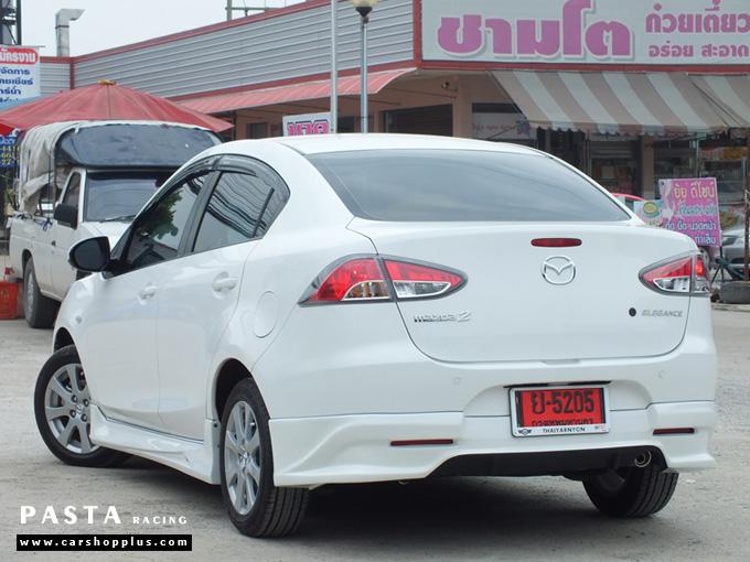 ชุดแต่ง สเกิร์ต Mazda 2 Seadan มาสด้า 2 4 ประตู File War Plus 2012 2013 2014 รังสิต ลำลูกกา ปทุมธานี สีขาว คุณภูวนัย รูป 7