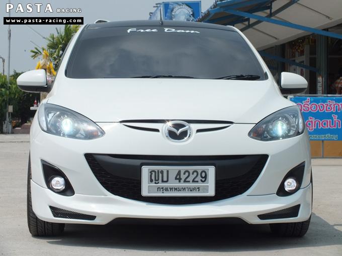 ชุดแต่ง สเกิร์ต Mazda 2 Seadan มาสด้า 2 4 ประตู File War Plus 2012 2013 2014 รังสิต ลำลูกกา ปทุมธานี สีขาว คุณถาวร รูป 1