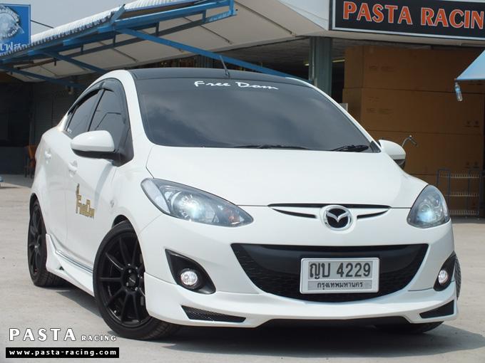 ชุดแต่ง สเกิร์ต Mazda 2 Seadan มาสด้า 2 4 ประตู File War Plus 2012 2013 2014 รังสิต ลำลูกกา ปทุมธานี สีขาว คุณถาวร รูป 2