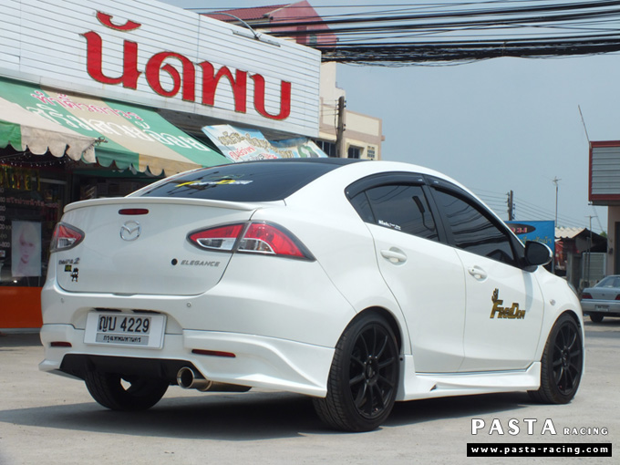 ชุดแต่ง สเกิร์ต Mazda 2 Seadan มาสด้า 2 4 ประตู File War Plus 2012 2013 2014 รังสิต ลำลูกกา ปทุมธานี สีขาว คุณถาวร รูป 4