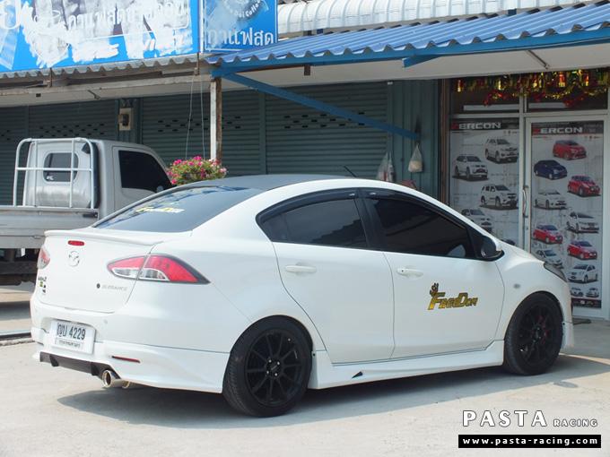 ชุดแต่ง สเกิร์ต Mazda 2 Seadan มาสด้า 2 4 ประตู File War Plus 2012 2013 2014 รังสิต ลำลูกกา ปทุมธานี สีขาว คุณถาวร รูป 7