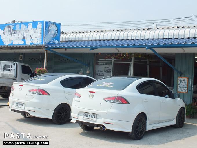 ชุดแต่ง สเกิร์ต Mazda 2 Seadan มาสด้า 2 4 ประตู File War Plus 2012 2013 2014 รังสิต ลำลูกกา ปทุมธานี สีขาว คุณถาวร รูป 8