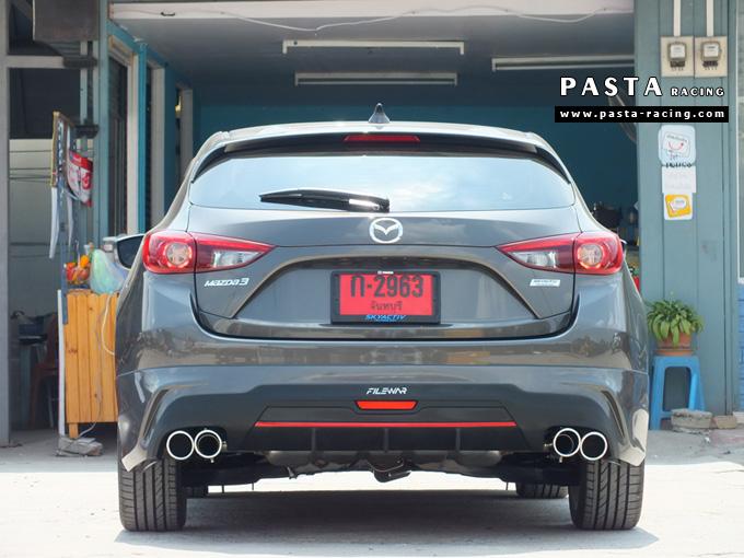 ชุดแต่ง สเกิร์ต แต่งรถ mazda 3 hatchback 5 ประตู มาสด้า 3 filewar 2014 2015 2016 2017 รังสิต ลำลูกกา ปทุมธานี กรุงเทพ สีน้ำตาล สมพร รูป 6