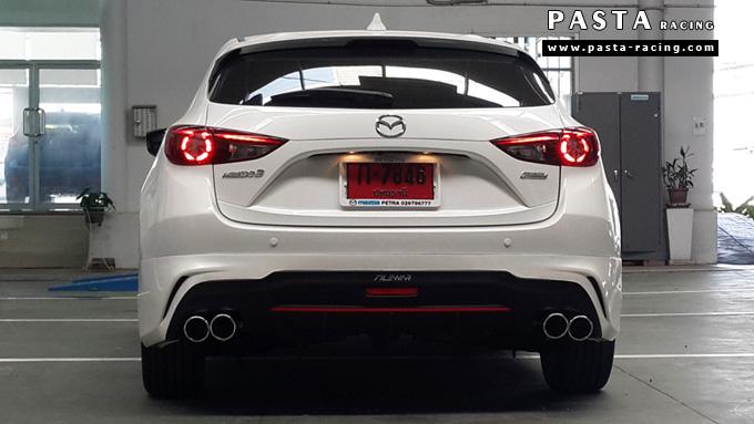 ชุดแต่ง สเกิร์ต แต่งรถ mazda 3 hatchback 5 ประตู มาสด้า 3 filewar 2014 2015 2016 รังสิต ลำลูกกา ปทุมธานี กรุงเทพ สีขาว คุณอั้ม รูป 5
