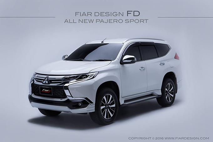 ชุดแต่ง สเกิร์ต ของแต่งรถ อุปกรณ์ แต่งรถ new pajero 2016 2017 2018 2019 fd fiar design รังสิต ลำลูกกา ปทุมธานี กรุงเทพ สีขาวมุก โปรชัวร์ รูป 2
