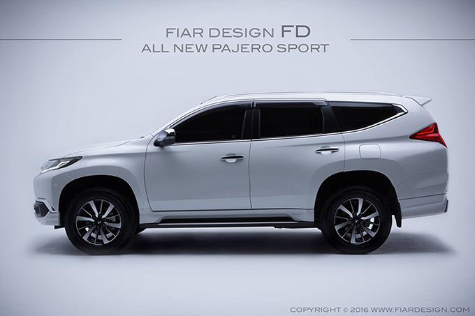 ชุดแต่ง สเกิร์ต ของแต่งรถ อุปกรณ์ แต่งรถ new pajero 2016 2017 2018 2019 fd fiar design รังสิต ลำลูกกา ปทุมธานี กรุงเทพ สีขาวมุก โปรชัวร์ รูป 3