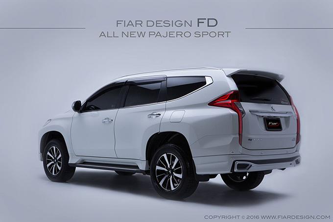 ชุดแต่ง สเกิร์ต ของแต่งรถ อุปกรณ์ แต่งรถ new pajero 2016 2017 2018 2019 fd fiar design รังสิต ลำลูกกา ปทุมธานี กรุงเทพ สีขาวมุก โปรชัวร์ รูป 4