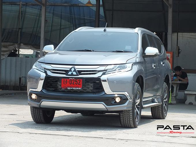 ชุดแต่ง สเกิร์ต ของแต่งรถ อุปกรณ์ แต่งรถ new pajero 2016 2017 2018 2019 fd fiar design รังสิต ลำลูกกา ปทุมธานี กรุงเทพ สีเทาไทเทเนียม เมธารี รูป 3