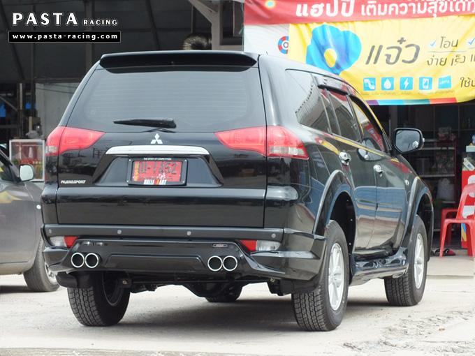 ชุดแต่ง สเกิร์ต แต่งรถ ปาเจโร่ pajero sport 2014 2015 2016 jap r2 รังสิต ลำลูกกา ปทุมธานี กรุงเทพ คุณสราวุธ สีดำ รูป 3