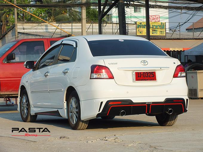 ชุดแต่ง สเกิร์ต อุปกรณ์ของแต่งรถวีออส vios 2007 2008 2009 2010 2011 2012 Drive 68 แต่งสวย ลำลูกกา รังสิต ปทุมธานี กรุงเทพ สีขาว สุรเชษฐ์ รูป 5