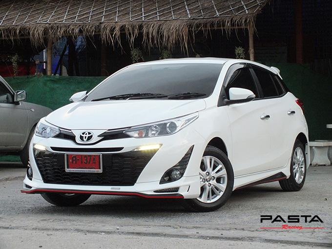 ชุดแต่ง สเกิร์ต อุปกรณ์แต่งรถ ของแต่งรถ new yaris 2017 2018 2019 Drive 68 แต่งรถ ลำลูกกา รังสิต ปทุมธานี กรุงเทพ สีขาว คุณปริยไทยแท้ รูป 2
