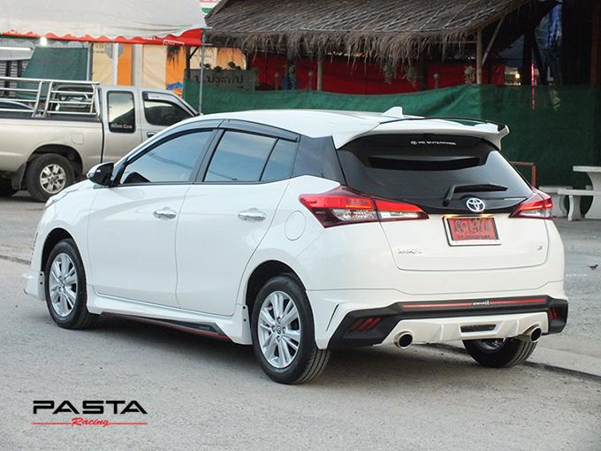 ชุดแต่ง สเกิร์ต อุปกรณ์แต่งรถ ของแต่งรถ new yaris 2017 2018 2019 Drive 68 แต่งรถ ลำลูกกา รังสิต ปทุมธานี กรุงเทพ สีขาว คุณปริยไทยแท้ รูป 4