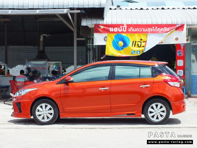 ชุดแต่ง สเกิร์ต แต่งรถ yaris eco 2013 2014 2015 2016 d-one รังสิต ลำลูกกา ปทุมธานี กรุงเทพ สีส้ม คุณทิวา รูป 3