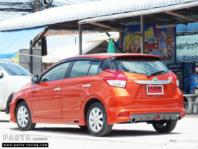 ชุดแต่ง สเกิร์ต แต่งรถ yaris eco 2013 2014 2015 2016 d-one รังสิต ลำลูกกา ปทุมธานี กรุงเทพ สีส้ม คุณทิวา รูป 4