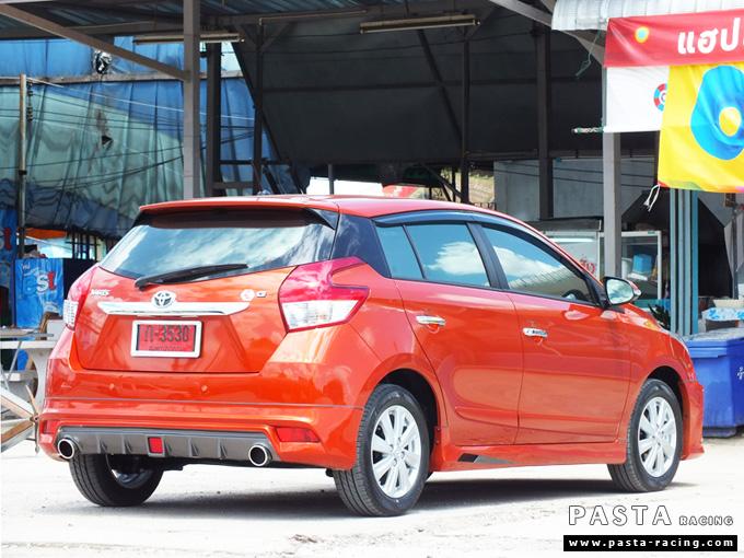 ชุดแต่ง สเกิร์ต แต่งรถ yaris eco 2013 2014 2015 2016 d-one รังสิต ลำลูกกา ปทุมธานี กรุงเทพ สีส้ม คุณทิวา รูป 5