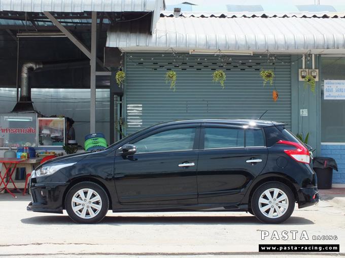 ชุดแต่ง สเกิร์ต แต่งรถ yaris eco 2013 2014 2015 2016 d-one รังสิต ลำลูกกา ปทุมธานี กรุงเทพ สีดำ คุณอัญชลี รูป 4