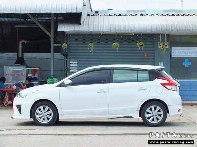 yaris eco ชุดแต่ง สเกิร์ต แต่งรถ 2013 2014 2015 2016 ยาริส d-one รังสิต ลำลูกกา ปทุมธานี กรุงเทพ สีขาว คุณวาสนา รูป 4