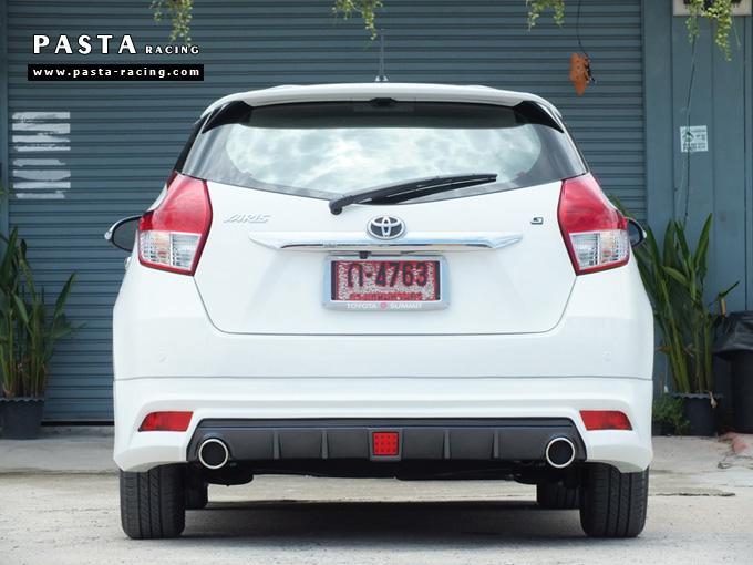 yaris eco ชุดแต่ง สเกิร์ต แต่งรถ 2013 2014 2015 2016 ยาริส d-one รังสิต ลำลูกกา ปทุมธานี กรุงเทพ สีขาว คุณวาสนา รูป 7